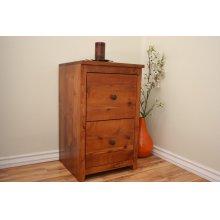 A-R178 Rustic Alder 2 Drawer LETTER File Cabinet