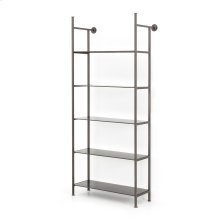 Single Size Gunmetal Finish Enloe Modular Bookshelf System