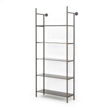 Single Size Gunmetal Finish Enloe Modular Bookshelf System
