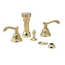 BAROQUE Four Hole Bidet Set K4144 - Polished Brass