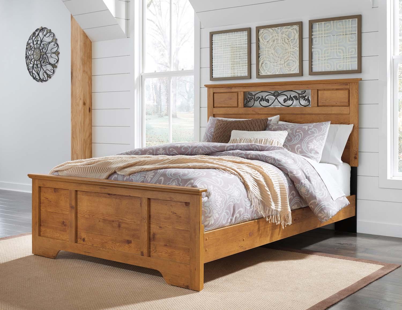 Bittersweet   Light Brown 3 Piece Bed Set (Queen)
