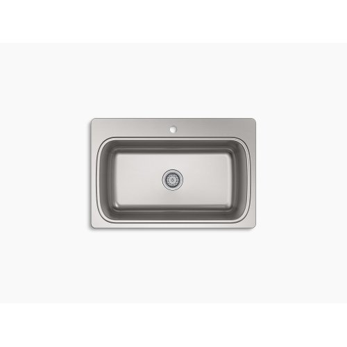 """33"""" X 22"""" X 9-5/16"""" Top-mount Single-bowl Kitchen Sink With Single Faucet Hole"""