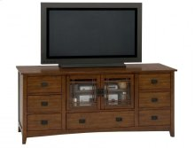 Media Unit W/ 7 Drawers and 2 Doors