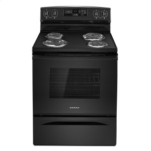 Amana30-inch Electric Range with Self-Clean Option Black