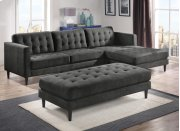Liam Charcoal Ottoman Product Image