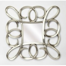 Hanging this mirror in any of your rooms is like making a fashion statement. With it's silver finished polyurethane frame giving it a modern aesthetic, it will be an asset to your home. It has a square shape and is ideal for your foyer , where you can us