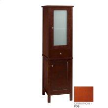 Contempo Linen Cabinet Storage Tower in Cinnamon