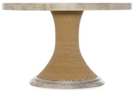 Dining Room Amani 48in Round Pedestal Dining Table with Wood Top