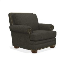 Brennan Premier Stationary Chair w/ Brass Nail Head Trim