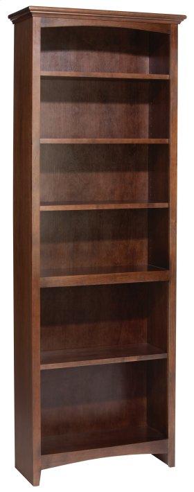 """CAF 72""""H x 24""""W McKenzie Alder Bookcase"""