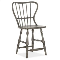 Dining Room Ciao Bella Spindle Back Counter Stool-Speckled Gray Product Image