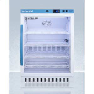 SummitPerformance Series Med-lab 6 CU.FT. Freestanding Glass Door ADA Height All-refrigerator