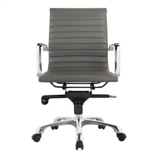 Omega Swivel Office Chair Low Back Grey