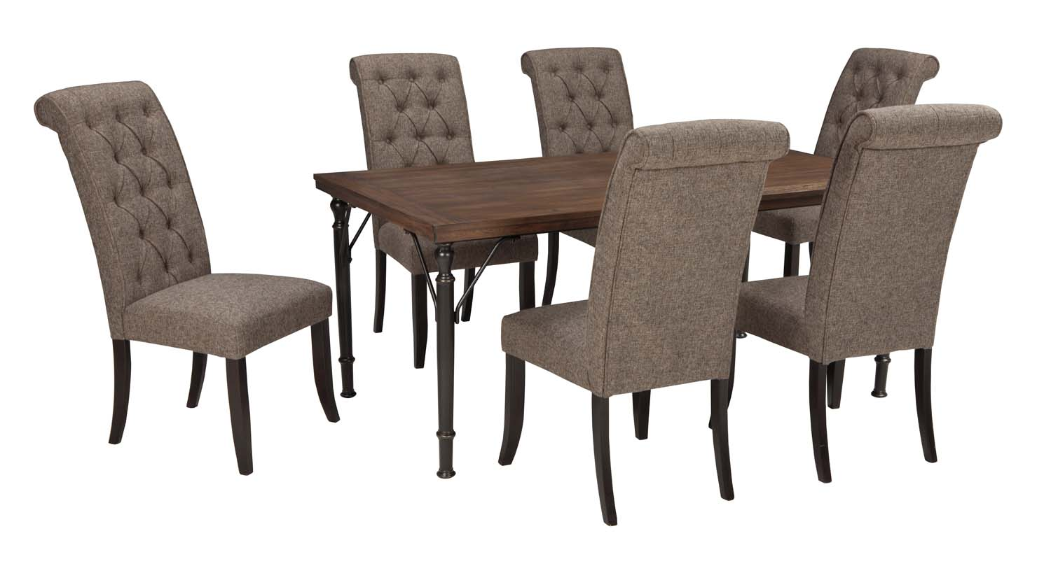 Gentil Tripton   Medium Brown 7 Piece Dining Room Set