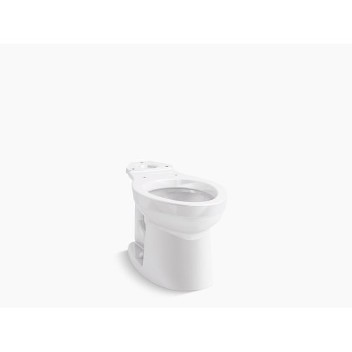 White Elongated Toilet Bowl, Seat Not Included
