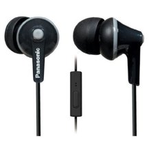ErgoFit In-Ear Earbud Headphones with Mic + Controller - Black - RP-TCM125-K