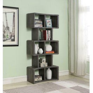 "CoasterWeathered Grey 70"" Bookcase"
