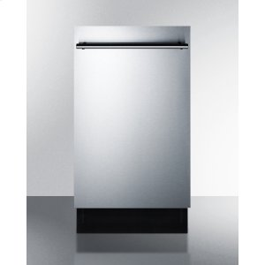 "Summit18"" Wide Energy Star Qualified Dishwasher With Stainless Steel or Panel-ready Door, Made In Europe"