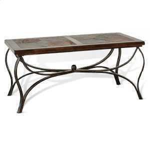 Santa Fe Coffee Table w/ Metal Base