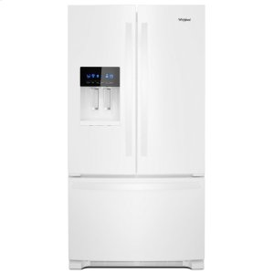 36-inch Wide French Door Refrigerator - 25 cu. ft. - WHITE