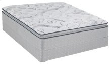 Sealy Brand - Blue - Level 4 - Plush - Euro Pillow Top - Queen