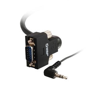 10ft VGA270(TM) HD15+3.5mm UXGA M/M Monitor Cable