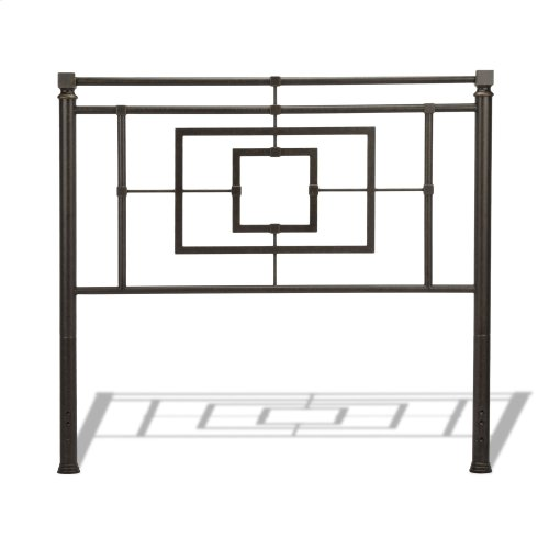 Sheridan Bed with Squared Metal Tubing and Geometric Design, Blackened Bronze Finish, Queen