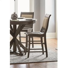 Upholstered Counter Chair (2/Carton) - Distressed Dark Gray Finish
