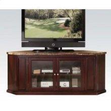 Espresso TV Stand W/faux Marbl