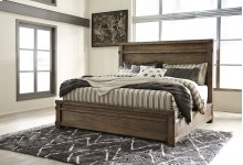 Leystone - Dark Brown 3 Piece Bed Set (Queen)