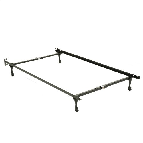 Sentry 78C Adjustable Bed Frame with Headboard Brackets and (4) Caster Legs, Twin - Full