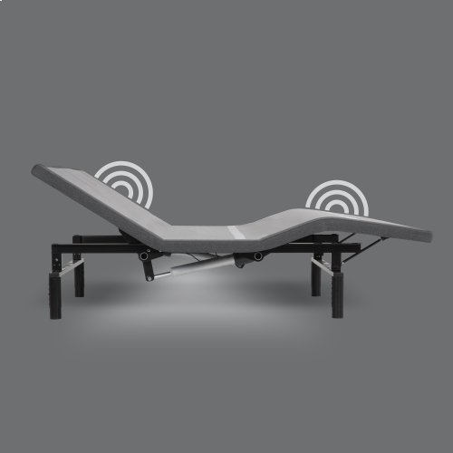 Simplicity 3.0 Low-Profile Adjustable Bed Base with Full Body Massage and Simultaneous Movement, Charcoal Gray Finish, Full XL