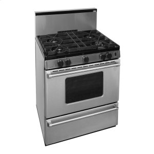 Premier30 in. ProSeries Freestanding Sealed Burner Gas Range in Stainless Steel