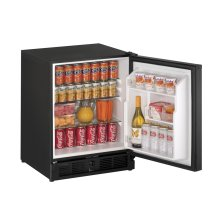 """Ada Series 21"""" Ada Solid Door Refrigerator With Black Solid Finish and Field Reversible Door Swing (115 Volts / 60 Hz)"""