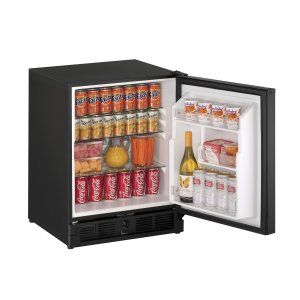 "U-LineAda Series 21"" Ada Solid Door Refrigerator With Black Solid Finish and Field Reversible Door Swing (115 Volts / 60 Hz)"