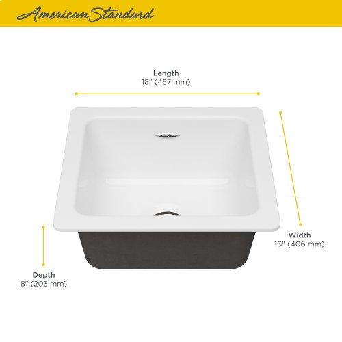 Delancey® 18 x 16 Single Bowl Cast Iron Kitchen Sink  American Standard - Brilliant White