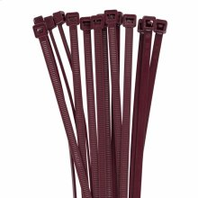 7.6 inch 50lb Burgundy Plenum Rated Cable Ties - 100 bag