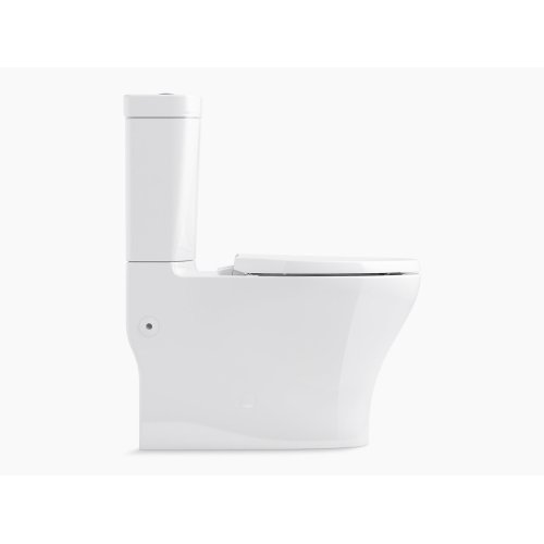 Almond Comfort Height Two-piece Elongated Dual-flush Toilet With Top-mount Actuator and Skirted Trapway, Seat Not Included