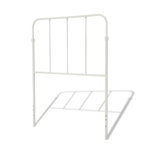 Nolan Fashion Kids Metal Headboard and Footboard Bed Panels with Fun Versatile Design, Arctic White Finish, Twin