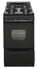 20 in. Freestanding Battery-Generated Spark Ignition Gas Range in Black Product Image