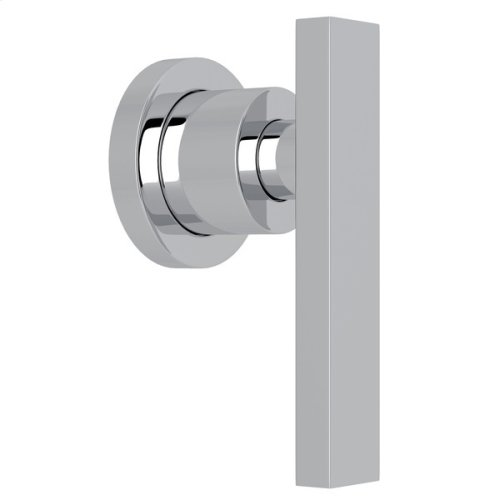 """Polished Chrome Pirellone 3/4"""" Volume Control Trim with Metal Lever"""