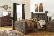 Quinden - Dark Brown 4 Piece Bed Set (King)