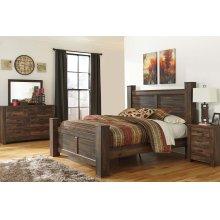 Quinden - Dark Brown 4 Piece Bed Set (King)