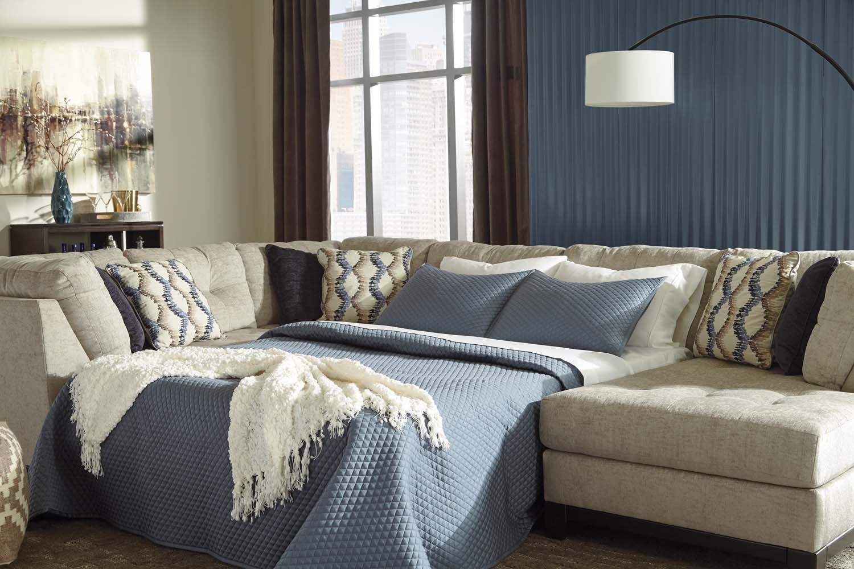 Ashley Furniture Logo Beckendorf   Chalk 3 Piece Sectional