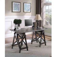 Industrial Galvanized Grey Adjustable Desk