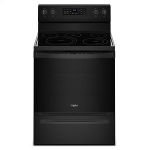 5.3 cu. ft. Whirlpool® electric range with Frozen Bake technology - BLACK
