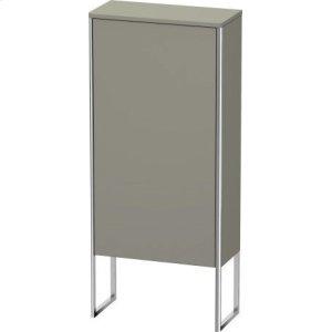 Semi-tall Cabinet Floorstanding, Stone Gray Satin Matt Lacquer