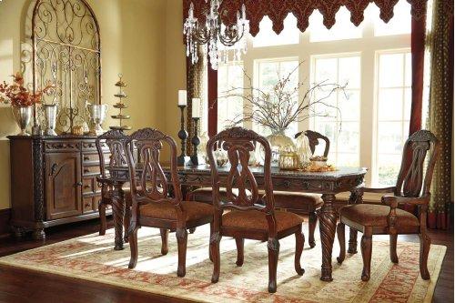 North Shore - Dark Brown 7 Piece Dining Room Set
