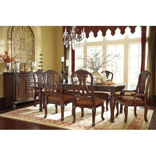 Sensational North Shore Dark Brown 7 Piece Dining Room Set Home Interior And Landscaping Mentranervesignezvosmurscom