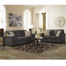 Signature Design by Ashley Alenya Living Room Set in Charcoal Microfiber